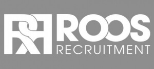 Roos Recruitment Logo White